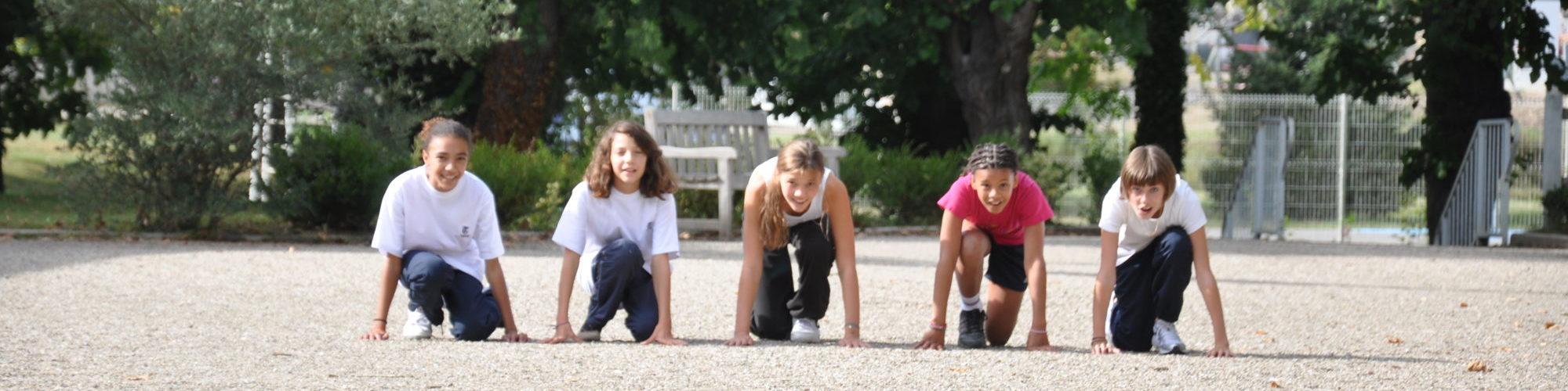 eleve en train de faire du sport au chateau Vaillant internat college lycee esport
